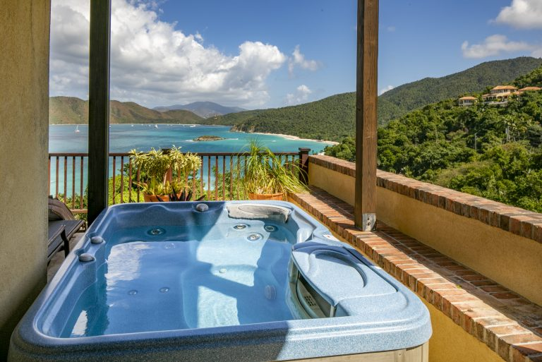 Private Spa with a Caribbean View