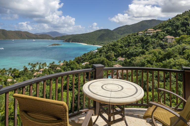Caribbean View from Penthouse Suite Balcony